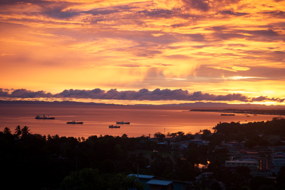 honiara sunset